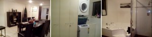 Dining area, laundry room & common toilet