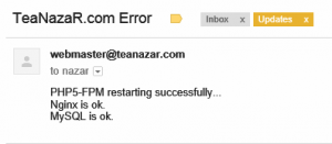 <center>Email notifications when PHP-FPM restarted.</center>